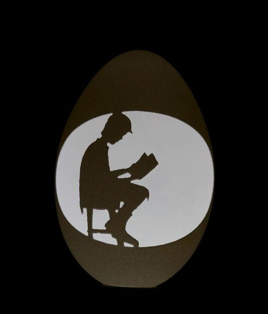 CNC grabado en cáscara de huevo - askix.com