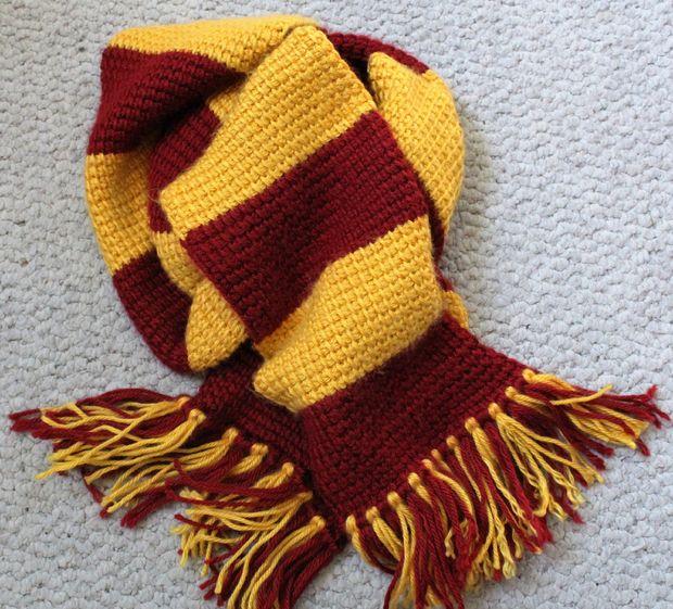 Tunecino ganchillo bufanda de Gryffindor de Harry Potter - askix.com