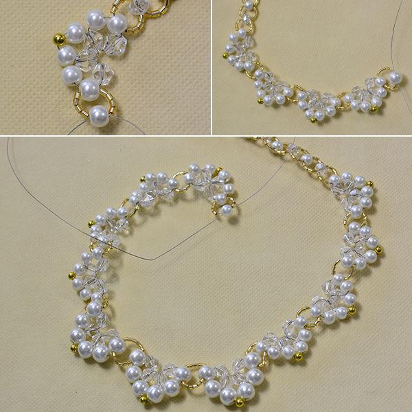 8a687bed9308 PandaHall Tutorial de hacer un collar de perlas blanco para niñas ...