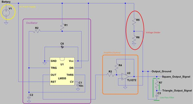 Circuito Oscilador 555 : Cómo diseñar un cuadrado o triángulo oscilador de onda de un