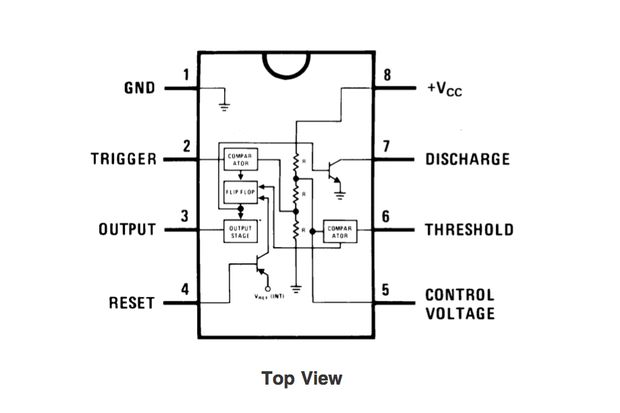 Temporizador 555    Paso 1  555 Timer Pin Diagrama