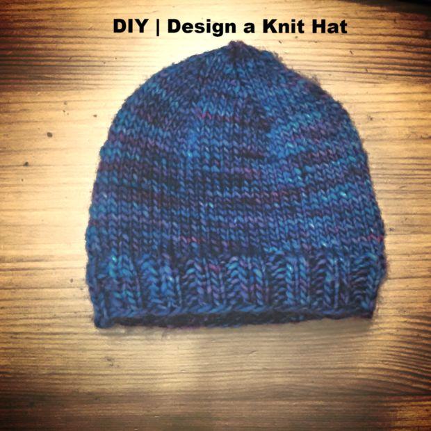 BRICOLAJE   Un sombrero sin un patrón de punto   Diseño básico fácil ...