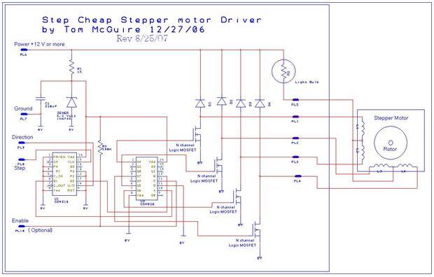F 225 Cil De Construir Circuitos De Motor De Pasos Cnc Mill Y