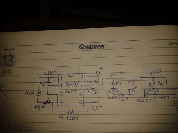 MINI altavoz portátil / Paso 2: Trabajo de circuito ...