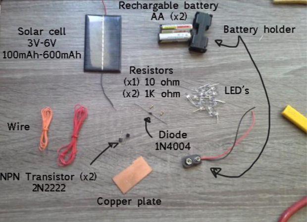 Lámpara Solar De Led Casera Paso 1 Materiales Y