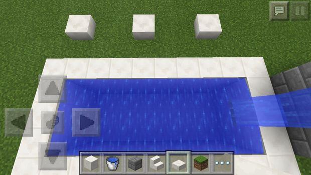Piscina De Minecraft Pe Paso 13 Sillas Para El Descanso