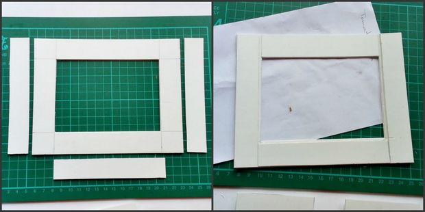 BRICOLAJE papel Quilled marco de fotos / Paso 3: Completar el marco ...