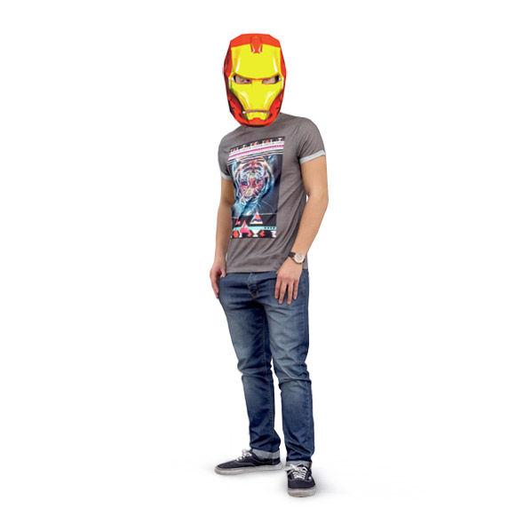 DIY 3D máscara de papel de Iron Man - askix.com