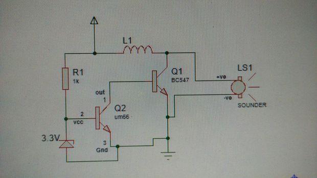 Circuito Zumbador Piezoelectrico : Cómo conducir un zumbador piezoeléctrico con transistor de